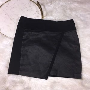 "IRO 'Jalie"" Leather and Stretch Cotton Skirt Sz 40"